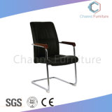 Modern Black Leather Meeting Chair with Solid Wood Arm (CAS-EC1830)