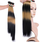 Color Tt1b/27# Synthetic Hair Weave Silky Straight Hair Extension 3 Bundles/Pack Hair Product