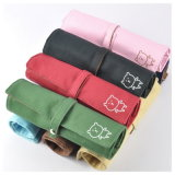 Hot New Products Cute Folding Canvas Pencil Bag