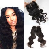 Hot Sale Virgin Remy Hair Brazilian Nature Lace Silky Three Parts Body Wave Women Toupee