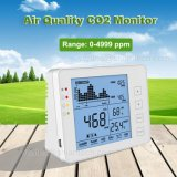 Ndir Sensor CO2 Monitor Humidity Temperature Carbon Dioxide (CO2) Indoor Air Quality Meter, Black and White