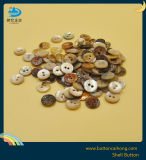 Dyeing Agoya Pearl Shell Button with 2 Holes for Women Garment