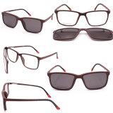 Italian Design Magnetic Clip on Glasses Polarized Sunglasses Optical Frame High Quality Eyeglasses