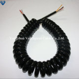 7 Cores PU Spring Coiled Power Cable with Ce