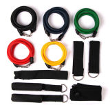 11PCS Resistance Bands Set with Door Anchor Handles Ankle Straps and Carrying Bag