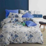 Price Latest Blue Flower Beddings with 2 Duvet Cover Pillowcases