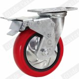 Heavy Duty Korea Iron Core PU Caster with Top Brake (G4211D)