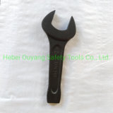 Steel Hardware Hand Tools Wrench Striking Open End 55 mm DIN133 Black Sand