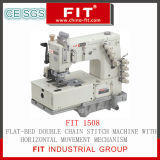 Flat-Bed Double Chain Stitch Machine with Horizontal Movement Mechanism (1508)