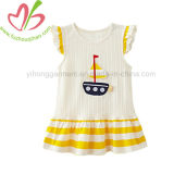 Summer Baby Girls′ Cotton Flutter Sleeve Dress Kids Tunic