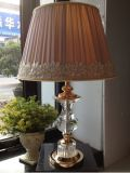 Phine 90271 Clear Crystal Table Lamp with Fabric Shade