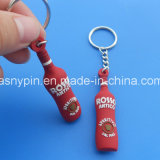 Promotional Soft PVC Bottle Keyring 3D Logo