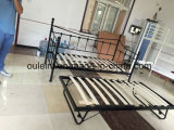 Folding Guest Bed with Wood Slats and Castors (OL1757)