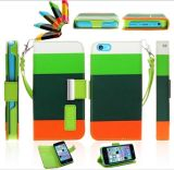Wallet PU Leather Flip Cover for Samsung S4 iPhone5