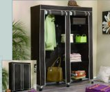 Iron Metal Frame Fabric Wardrobe