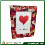 Elegant Red Wooden Picture Frame with Beautiful Patterns
