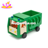 New Arrival Cartoon Mini Wooden Garbage Truck Toys for Kids W04A360