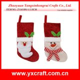 Christmas Decoration (ZY16Y091-1-2 35CM) Christmas Flat Sock Design