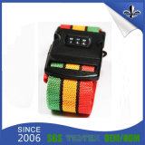 Custom Printed Polyester Nylon Webbing Luggage/Wood Strap Belt with Plastic Buckle