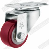 Medium Light Duty PU Swivel Caster (Red) (Double Ball Bearing) G2202