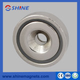 Neodymium Nickle Plated Countersunk Pot Magnet A42 Magnetic Chuck
