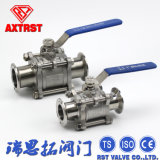 "1/2""-4"" Three Piece Clamp Ball Valve with Lever Operation"