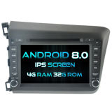 Witson Eight Core Android 8.0 Car DVD for Honda New Civic 2012 4G ROM 1080P Touch Screen 32GB ROM IPS Screen