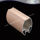 Wooden Finished Color Building Material OEM 6063 T5 Extruted Aluminium Profile