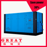 Factory Supply Mute Lower Price for 132kw 10bar Oil Injected Stationary Direct Driven Industrial AC Power Electric Rotary Twin Screw Type Air Compressor