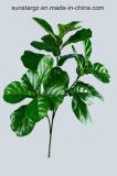 PE Ficus Fiddle Artificial Plant for Home Decoration (50977)
