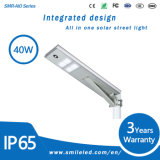IP65 Waterproof Integrated Outdoor Solar Street Lamp All in One LED Light for Road Lighting