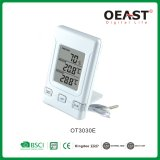 in/out Door Thermometer with Clock Display Time Ot3030e