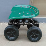 New Cheapest Rolling Garden Work Seat with 4 Wheels