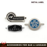 Data Zinc Alloy Custom Silver Plated Metal Logo for Bags