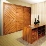 Oppein Rural Brown Melamine Wood Built in Wardrobe (OPY09-24)