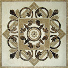 Natural Stone Marble Water Jet Medallion Inlay Mosaic Pattern