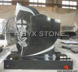 Shanxi Black Granite Cross Headstone / Memorial / Tombstone