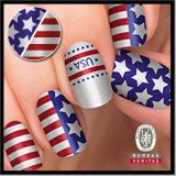 OEM 10PCS Glitter USA Design Nail Art More Design Avaiable