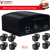 Mobile Car DVR -- 8CH 720p 3G 4G GPS WiFi Function for Optional