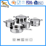 304 Tri-Ply 9 PCS Stainless Steel Cookware (ALS-1624)