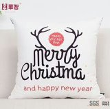 Christmas Cushion Cover with Christmas Tree and Deer