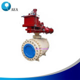 Forged Steel Motor Operated Metal Seated Trunnion Mounted Ball Valve
