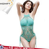 Factory Sexy Blue Macrame Printing Bandages Sexy Bikini Sets for Woman Swimsuit