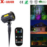Cast Aluminium Laser Christmas Light with RF Wireless Remote Contol, Laser Star Projector Show for Halloween, Christmas, Party