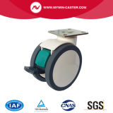 5inch Plate Swivel Steel Structure TPU Medical Caster