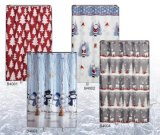 Christmas Printde Shower Curtain Sft18sc001