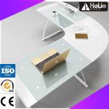 Modern Home Office Furniture Glass Corner Desk
