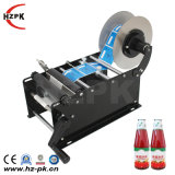 Hzpk Semi-Automatic Labeling Machine Round Beer Bottle
