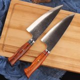 8 Inch Kitchen Knives with Wood Handle 67 Layer Vg10 Damascus Stainless Steel Professional Slicing Vegetable Meat Chef Knife