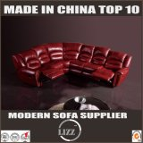 Foldable Living Room Corner Recliner Leather Sofa